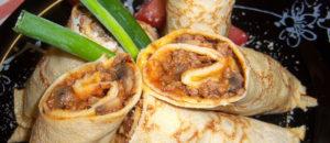 naleśniki z mięsem i grzybami