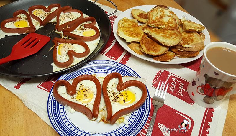 Serca z parówki i jajek