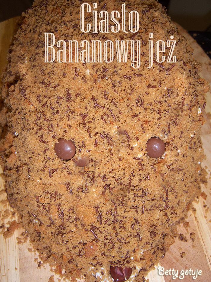 Ciasto bananowy jeż 1