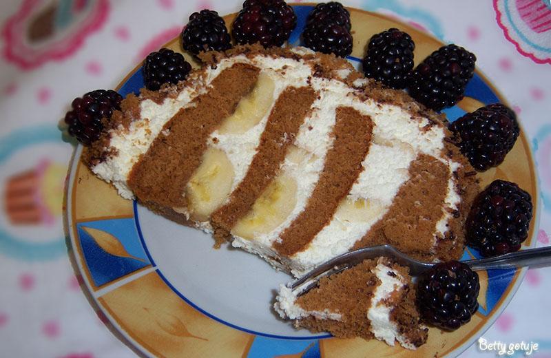 Ciasto bananowy jeż 4