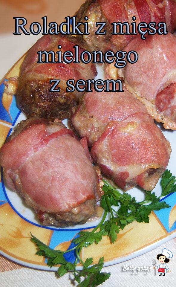 roladki z mięsa mielonego zapiekane w boczku