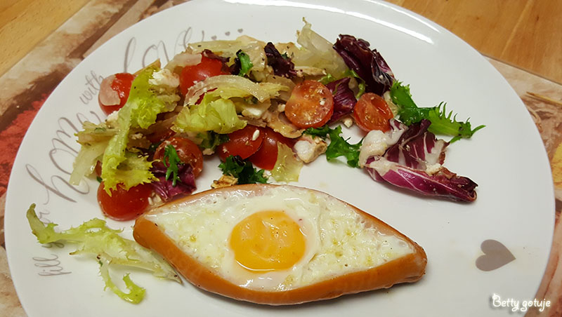 Jajko sadzone w parówce 3