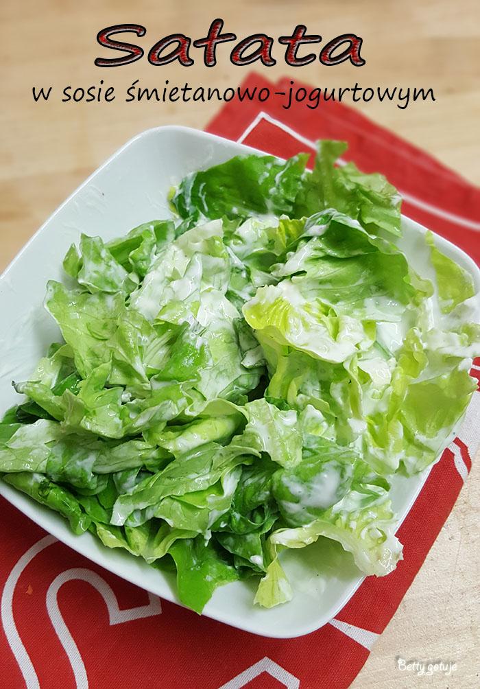 Sałata w sosie śmietanowo-jogurtowym 1