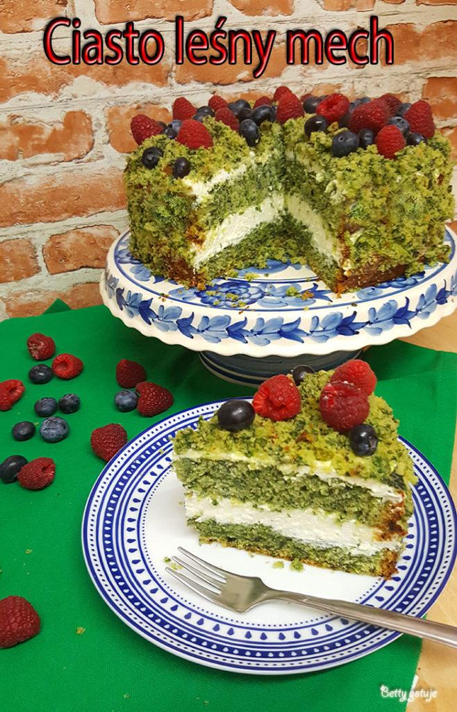 Ciasto leśny mech 3