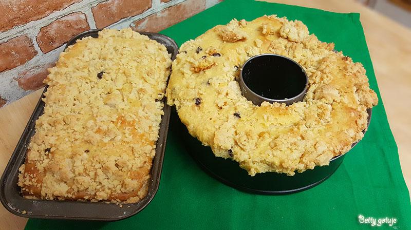 Drożdżówka z kruszonką bez wyrabiania i zagniatania ciasta 1
