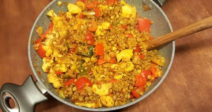 Soczewica w sosie curry